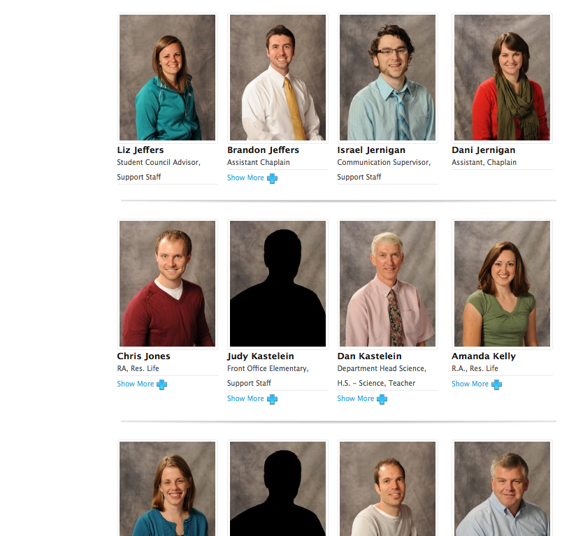 Staff profiles - Can you find us?